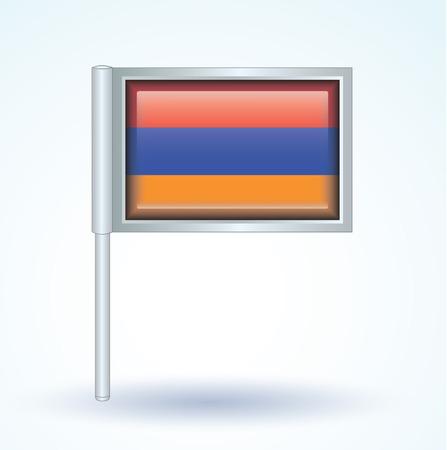 armenia: Flag of Armenia, vector illustration