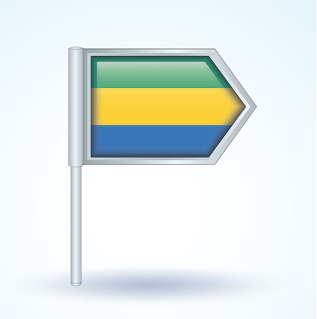 gabon: Flag of Gabon, vector illustration Illustration