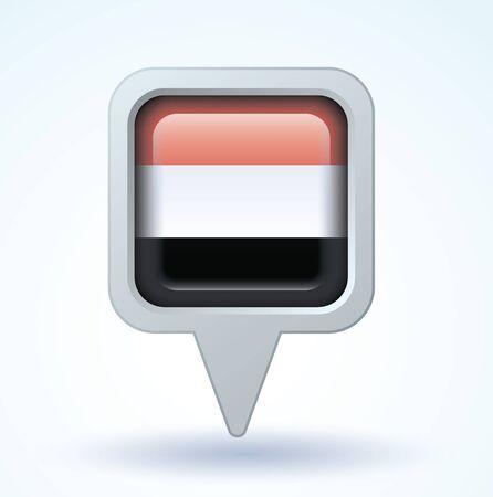 yemen: Flag of Yemen, vector illustration
