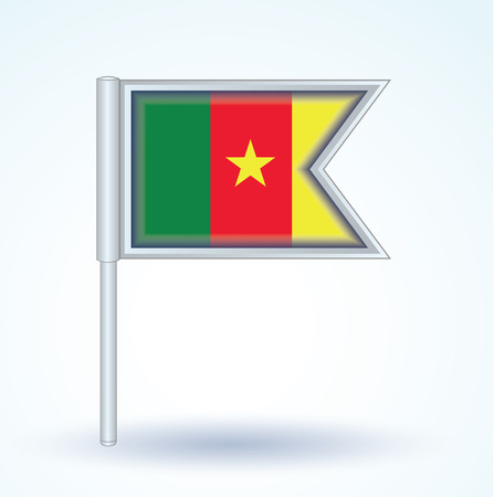 cameroon: Flag of cameroon, vector illustration