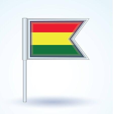 bolivia: Flag of Bolivia, vector illustration