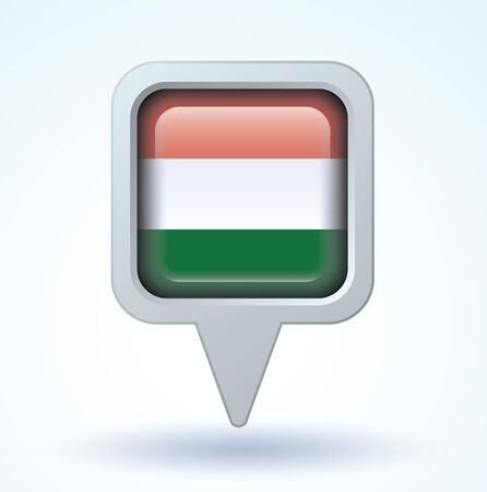 hungary: Flag of hungary, vector illustration