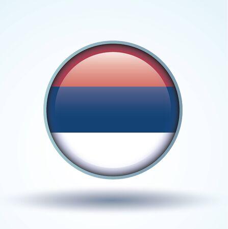 serbien: Flagge von Serbien, Icon-Sammlung, Vektor-Illustration