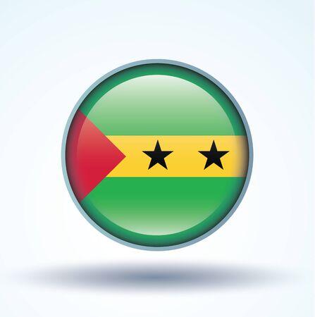 principe: Bandera de Santo Tomé y Príncipe, ilustración vectorial