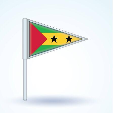 principe: Bandera de Santo Tom� y Pr�ncipe, ilustraci�n vectorial