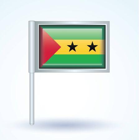 tome: Flag of Sao Tome and Principe, vector illustration
