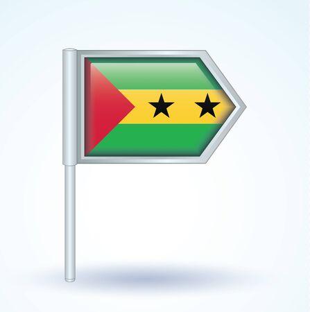 tomo: Bandiera di Sao Tome e Principe, illustrazione vettoriale