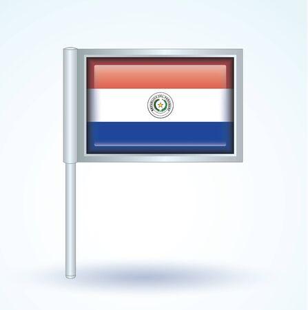 paraguay: Flag of Paraguay, vector illustration Illustration