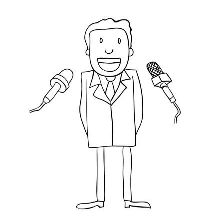 sucess: Businessman success, vector illustration.