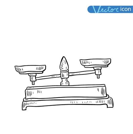 scale icon: scales icon. vector illustration. Illustration
