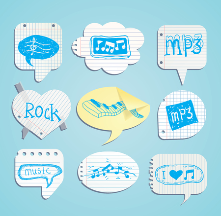 speech bubbles, shopping, vector illustration.