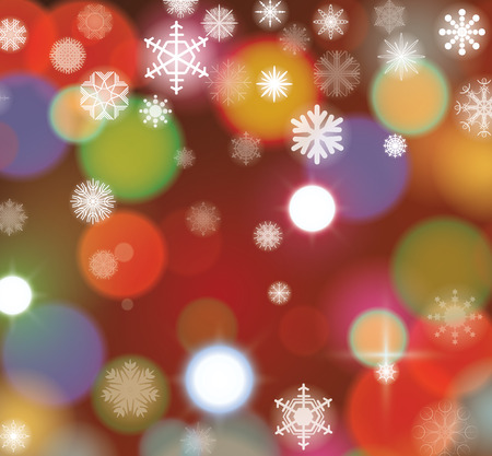 fall winter: Lights Christmas background, vector. Illustration