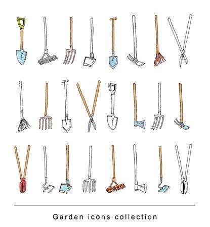 garden path: gardening element tools, illustration vector.