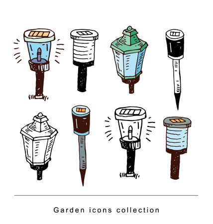 Solaire De Jardin Lumi¨re De La Lampe Illustration Vectorielle