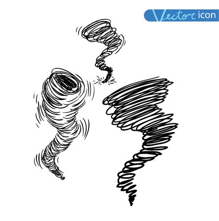 weather elements, tornado, vector illustration. Illustration