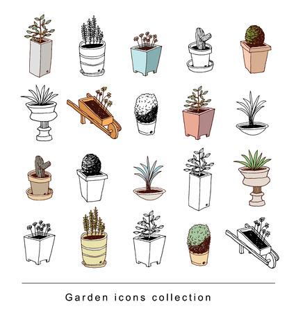 Decorazioni elemento giardinaggio, illustrazione vettoriale. Archivio Fotografico - 48738749
