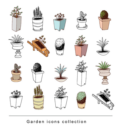 gardening element decorations, illustration vector.