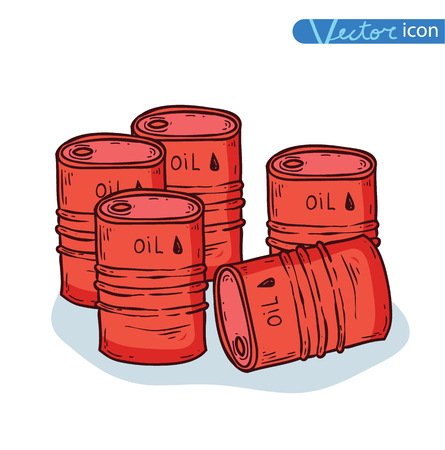 barel: icon barrels of oil. Vector