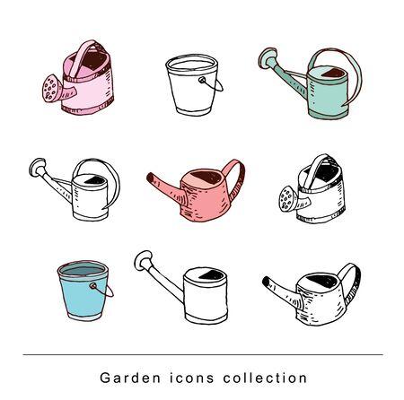 pail tank: watering can, vector illustration. Illustration