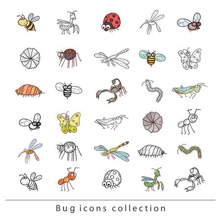 hormiga caricatura: cartoon insect bug icon, vector illustration. Vectores