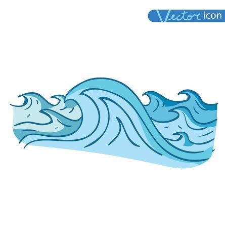 ocean waves: Ocean or sea waves. vector illustration. Illustration