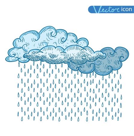 rain cloud: Rain Cloud. vector illustration.