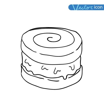 softcream: Icon of ice cream, vector illustration.