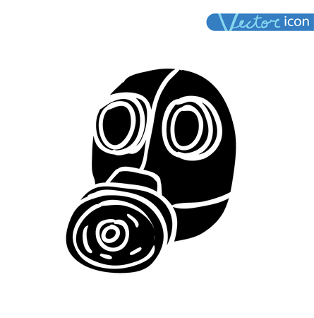 doomsday: Gas mask icon, vector illustration. Illustration