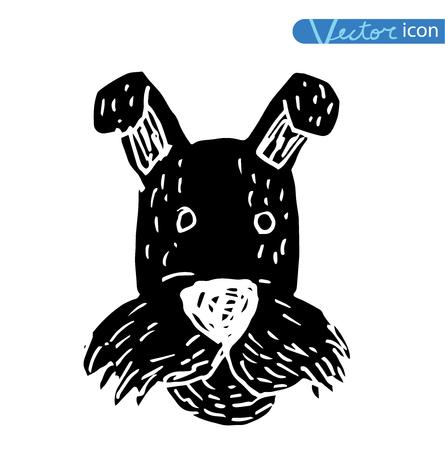shepard: dog icon - vector illustration. Illustration