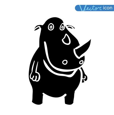 rhino vector: rhino, vector illustration Illustration