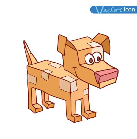 icon 3d: 3d dog icon -  illustration. Illustration