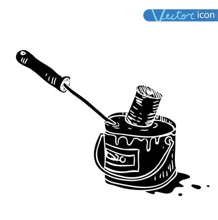 Paint brush icon, vector illustration