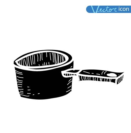 frying pan isolated , vector illustration. Stock fotó - 77751230