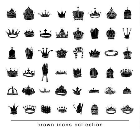 crown collection vector illustration.
