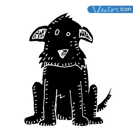 dog icon - vector illustration. Illustration