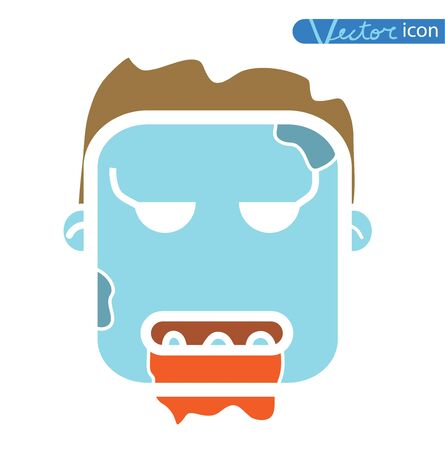 zombie cartoon character, vector illustration. Illustration