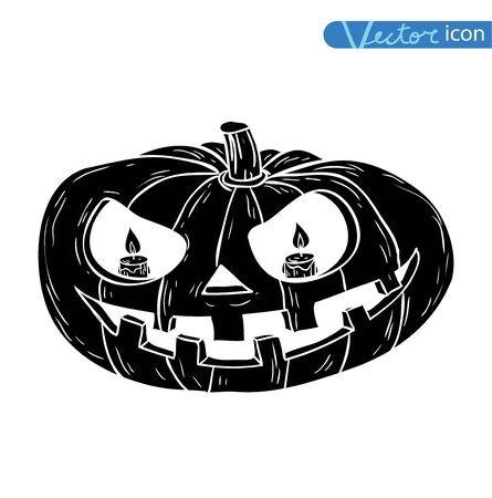 Jack O Lantern halloween pumpkin. vector illustration