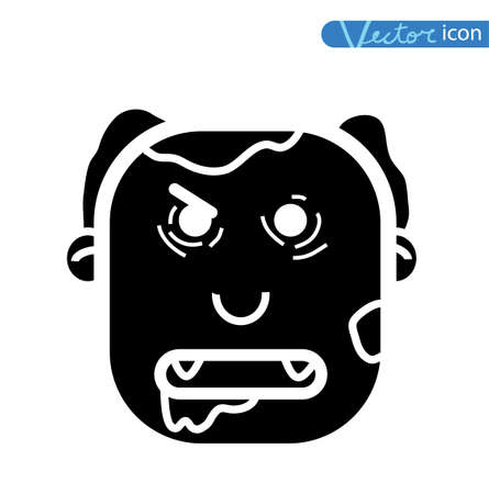 zombie cartoon character, vector illustration. Иллюстрация