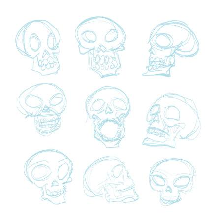 Skull cartoon icon. Vector illustration. Illustration
