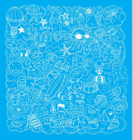 vector collection Summer Icons. Stock Illustratie