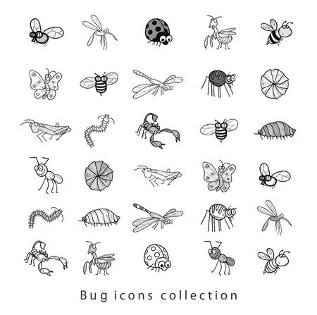 cartoon insect bug icon, vector illustration. Illusztráció