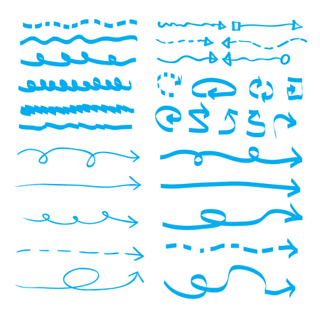 hand drawn underline, vector illustration.