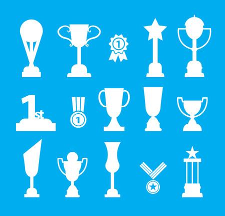 Trophy icon set, vector illustration. Illusztráció