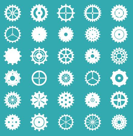 Set of gear wheels, vector illustration. Illusztráció