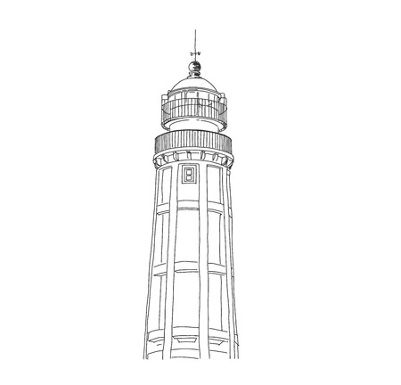 Island lighthouse Faro, Portugal