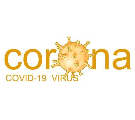 Abstract of coronavirus cell