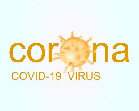 Abstract coronavirus cells on white
