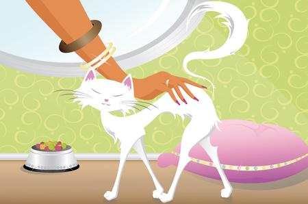 White cat Ilustrace