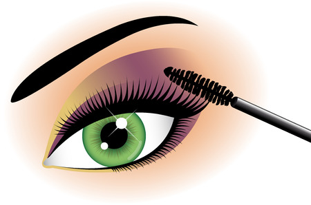 eyeshadow: Eye with eyeshadow and mascara