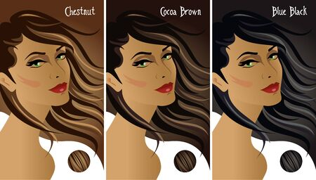 Dark hair colors chart.